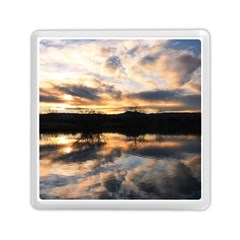 Sun Reflected On Lake Memory Card Reader (square)  by trendistuff