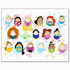 Disney Ladies Canvas 11  x 14   by lauraslovelies