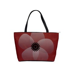 Pretty Sheer Flower Red By Lucy   Classic Shoulder Handbag   82qhtfmc9fdn   Www Artscow Com Front