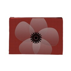 Pretty Sheer Flower Red By Lucy   Cosmetic Bag (large)   Ays5bo7y61dw   Www Artscow Com Front