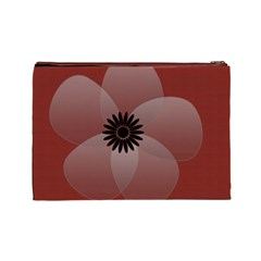 Pretty Sheer Flower Red By Lucy   Cosmetic Bag (large)   Ays5bo7y61dw   Www Artscow Com Back