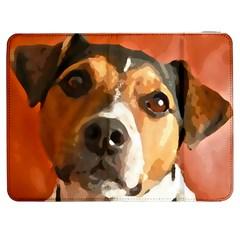 Jack Russell Terrier Samsung Galaxy Tab 7  P1000 Flip Case by Rowdyjrt