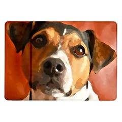 Jack Russell Terrier Samsung Galaxy Tab 10.1  P7500 Flip Case by Rowdyjrt