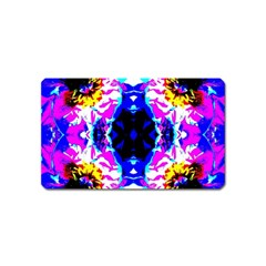 Animal Design Abstract Blue, Pink, Black Magnet (name Card) by Costasonlineshop