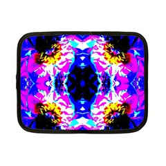 Animal Design Abstract Blue, Pink, Black Netbook Case (small)  by Costasonlineshop