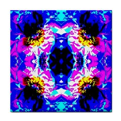 Animal Design Abstract Blue, Pink, Black Face Towel by Costasonlineshop