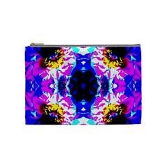 Animal Design Abstract Blue, Pink, Black Cosmetic Bag (medium)  by Costasonlineshop