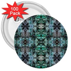 Green Black Gothic Pattern 3  Buttons (100 Pack)  by Costasonlineshop