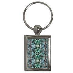 Green Black Gothic Pattern Key Chains (rectangle)  by Costasonlineshop
