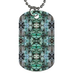 Green Black Gothic Pattern Dog Tag (Two Sides) by Costasonlineshop