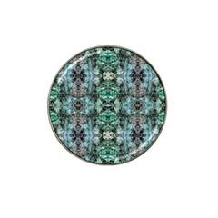 Green Black Gothic Pattern Hat Clip Ball Marker by Costasonlineshop