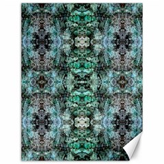 Green Black Gothic Pattern Canvas 12  X 16   by Costasonlineshop