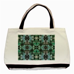 Green Black Gothic Pattern Basic Tote Bag (two Sides)  by Costasonlineshop