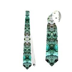 Green Black Gothic Pattern Neckties (one Side)  by Costasonlineshop