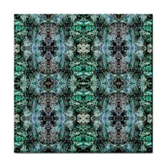 Green Black Gothic Pattern Face Towel by Costasonlineshop