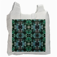 Green Black Gothic Pattern Recycle Bag (One Side) by Costasonlineshop