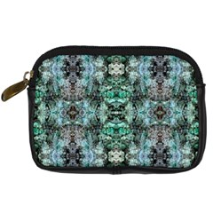 Green Black Gothic Pattern Digital Camera Cases by Costasonlineshop