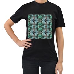 Green Black Gothic Pattern Women s T Shirt (black) by Costasonlineshop