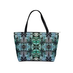 Green Black Gothic Pattern Shoulder Handbags by Costasonlineshop