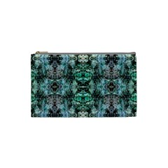 Green Black Gothic Pattern Cosmetic Bag (small)  by Costasonlineshop