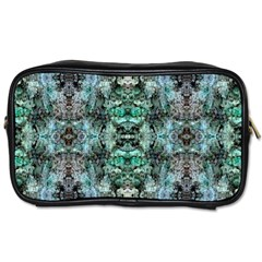 Green Black Gothic Pattern Toiletries Bags 2-Side by Costasonlineshop