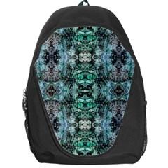 Green Black Gothic Pattern Backpack Bag by Costasonlineshop