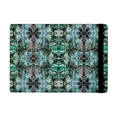 Green Black Gothic Pattern Apple Ipad Mini Flip Case by Costasonlineshop