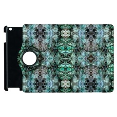 Green Black Gothic Pattern Apple Ipad 3/4 Flip 360 Case by Costasonlineshop