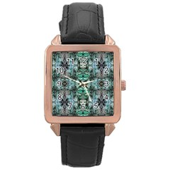 Green Black Gothic Pattern Rose Gold Watches by Costasonlineshop