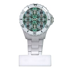 Green Black Gothic Pattern Nurses Watches by Costasonlineshop