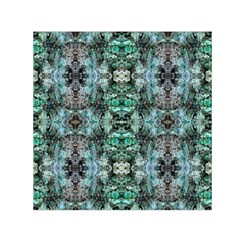 Green Black Gothic Pattern Small Satin Scarf (square)  by Costasonlineshop