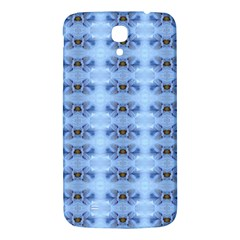 Pastel Blue Flower Pattern Samsung Galaxy Mega I9200 Hardshell Back Case by Costasonlineshop