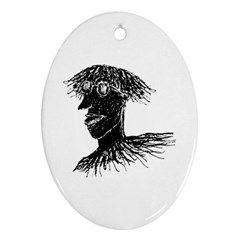 Cool Young Long Hair Man With Glasses Oval Ornament (two Sides) by dflcprints