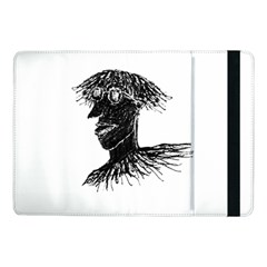 Cool Young Long Hair Man With Glasses Samsung Galaxy Tab Pro 10 1  Flip Case by dflcprints