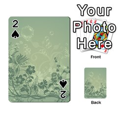Wonderful Flowers In Soft Green Colors Playing Cards 54 Designs  by FantasyWorld7