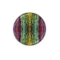 Abstract, Yellow Green, Purple, Tree Trunk Hat Clip Ball Marker by Costasonlineshop