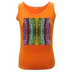 Abstract, Yellow Green, Purple, Tree Trunk Women s Dark Tank Tops by Costasonlineshop