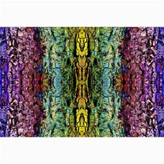 Abstract, Yellow Green, Purple, Tree Trunk Collage 12  X 18  by Costasonlineshop