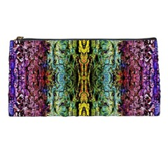 Abstract, Yellow Green, Purple, Tree Trunk Pencil Cases by Costasonlineshop