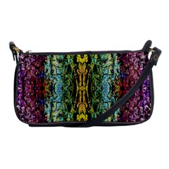 Abstract, Yellow Green, Purple, Tree Trunk Shoulder Clutch Bags by Costasonlineshop