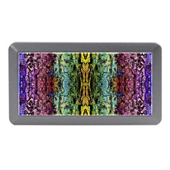 Abstract, Yellow Green, Purple, Tree Trunk Memory Card Reader (mini) by Costasonlineshop