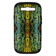 Abstract, Yellow Green, Purple, Tree Trunk Samsung Galaxy S III Hardshell Case (PC+Silicone) by Costasonlineshop