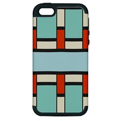 Vertical And Horizontal Rectangles			apple Iphone 5 Hardshell Case (pc+silicone) by LalyLauraFLM