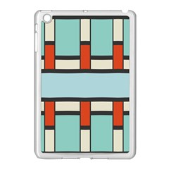 Vertical And Horizontal Rectangles			apple Ipad Mini Case (white) by LalyLauraFLM