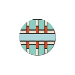 Vertical And Horizontal Rectanglesgolf Ball Marker (4 Pack) by LalyLauraFLM