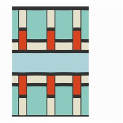 Vertical And Horizontal Rectangles Small Garden Flag by LalyLauraFLM