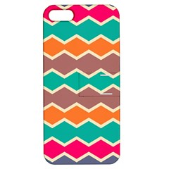 Colorful Chevrons Pattern			apple Iphone 5 Hardshell Case With Stand by LalyLauraFLM