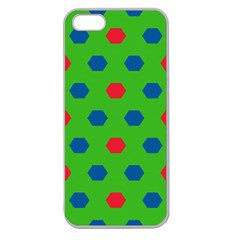 Honeycombs Patternapple Seamless Iphone 5 Case (clear) by LalyLauraFLM