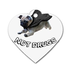 Do Pugs Dog Tag Heart (two Sides) by MooMoo