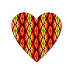Melons Pattern Abstract Heart Magnet by Costasonlineshop